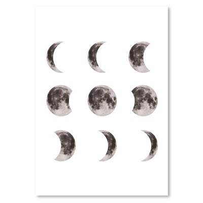 Americanflat 'Moonphases' The Glass Mountain Graphic Art
