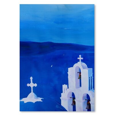 Americanflat 'Enchanting Santorini Greece View' by M Bleichner Art Print