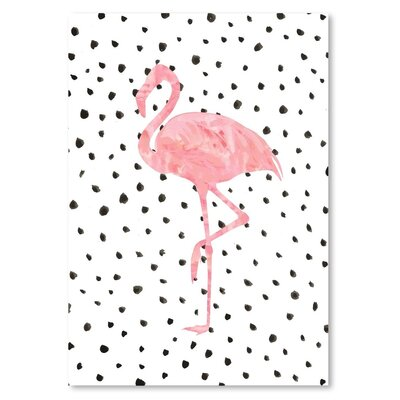 Americanflat 'Flamingo on Polka Dots' Graphic Art
