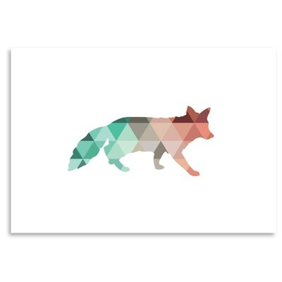 Americanflat 'Coral Fox Up To' by Melinda Wood Graphic Art