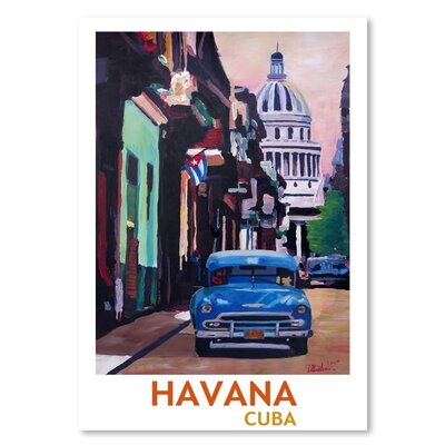 Americanflat 'Cuban Oldtimer Street Scene In Havanna Cuba With Buena Vista Feeling Poster 2' by M Bleichner Art Print