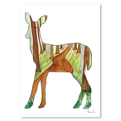 Americanflat 'Deer' by Adrienne Vita Art Print