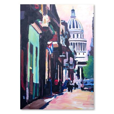 Americanflat 'Havana Cuba Street Scene' by M Bleichner Art Print
