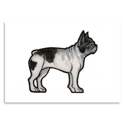 Americanflat 'French Bulldog' by Sally Pattrick Art Print Wrapped on Canvas