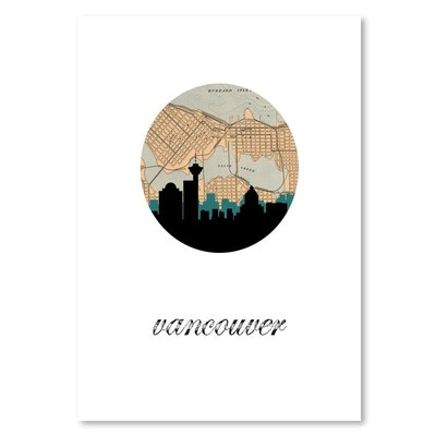 Americanflat 'Vancouver Map Skyline' by PaperFinch Graphic Art