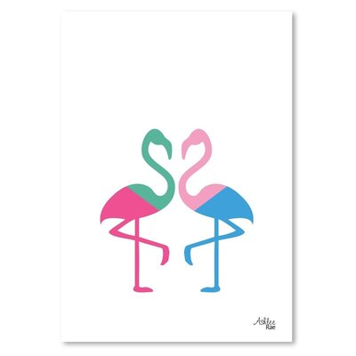 Americanflat 'Flamingo Two' by Ashlee Rae Graphic Art