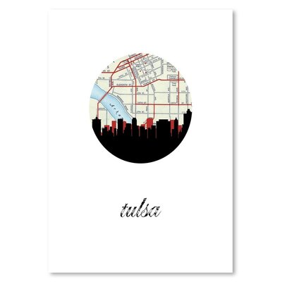 Americanflat 'Tulsa Map Skyline' by PaperFinch Graphic Art