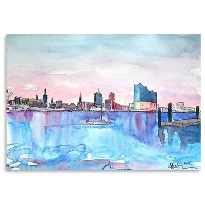 Americanflat Hamburg Harbour City Elbphilharmonie' by Markus Bleichner Art Print