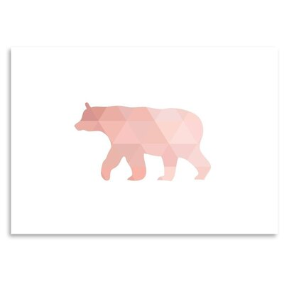 Americanflat 'Coral Bear Up To' by Melinda Wood Graphic Art