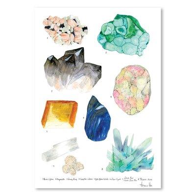 Americanflat 'Crystal Specimen Chart 2' by Adrienne Vita Art Print