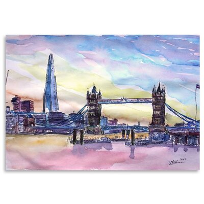 Americanflat 'London England The Shard And Tower Bridge 2' by M Bleichner Art Print