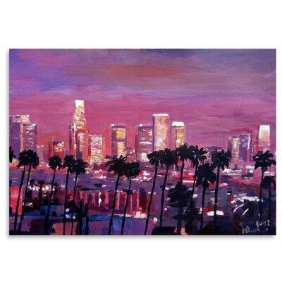Americanflat 'Los Angelese Skyline 2' by M Bleichner Art Print