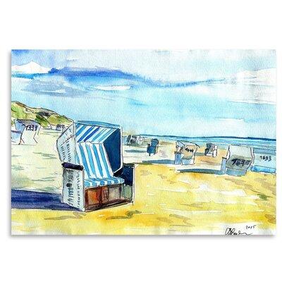 Americanflat 'Sylt German Island Beach' by M Bleichner Art Print