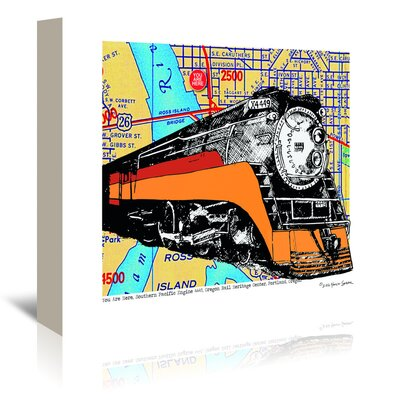 Americanflat 'Oregon Rail Heritage Center' by Lyn Nance Sasser and Stephen Sasser Graphic Art Wrapped on Canvas