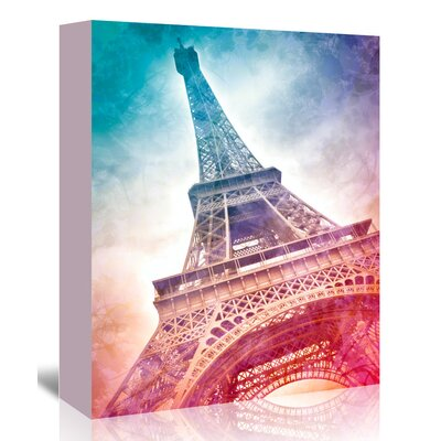 Americanflat 'Modern Art Paris Eiffel Tower' by Melanie Viola Graphic Art Wrapped on Canvas
