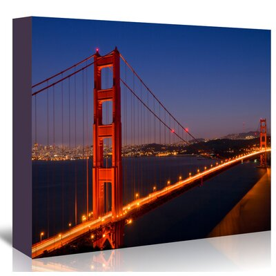 Americanflat 'Golden Gate Bridge in The Evening' by Melanie Viola Photographic Print Wrapped on Canvas
