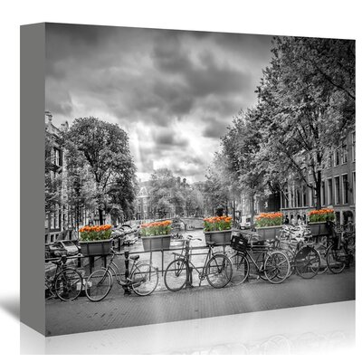 Americanflat 'Typical Amsterdam' by Melanie Viola Photographic Print Wrapped on Canvas