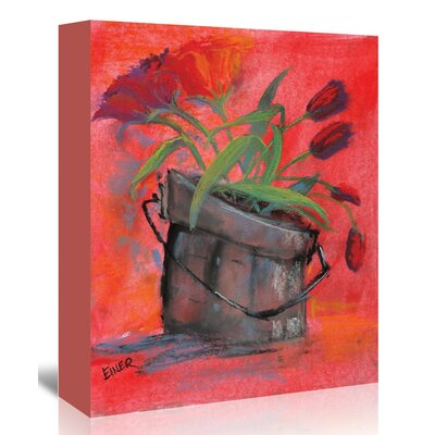 Americanflat 'Tulip Pail' by Terri Einer Art Print Wrapped on Canvas