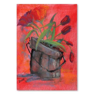 Americanflat 'Tulip Pail' by Terri Einer Art Print