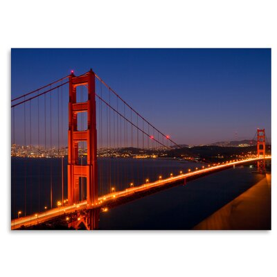 Americanflat Golden Gate Bridge in The Evening' by Melanie Viola Photographic Print