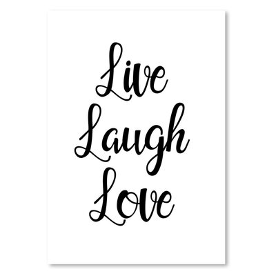 Americanflat 'Livelaughlove' by Pop Monica Typography