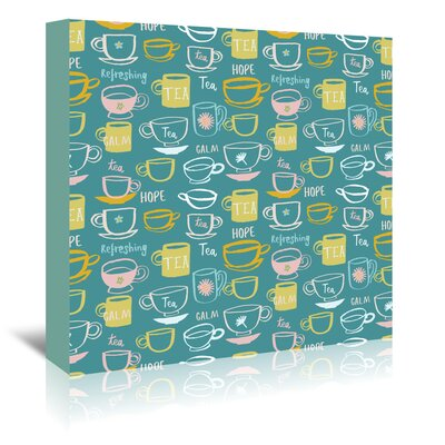 Americanflat 'Teacups' by Emma McGowan Graphic Art Wrapped on Canvas