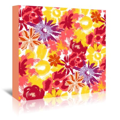 Americanflat 'Floral Frenzy' by Kevin Brackley Art Print Wrapped on Canvas