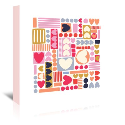 Americanflat 'Mod Hearts' by Jocelyn Proust Graphic Art Wrapped on Canvas