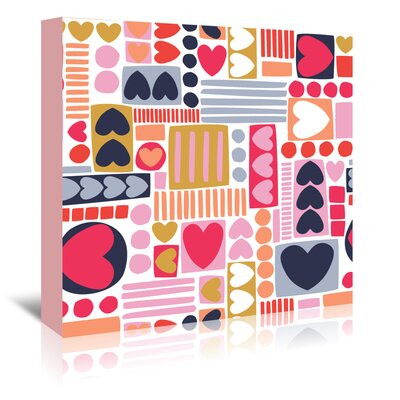 Americanflat 'Mod Hearts 1' by Jocelyn Proust Graphic Art Wrapped on Canvas