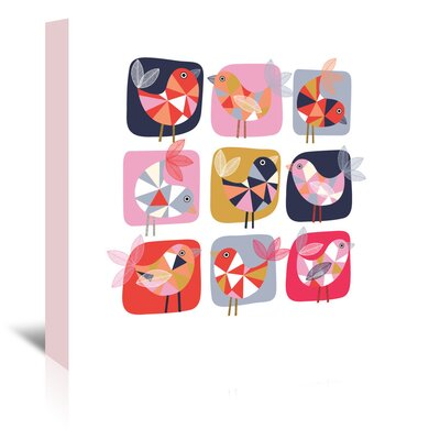 Americanflat 'Geo Bird Square' by Jocelyn Proust Graphic Art Wrapped on Canvas