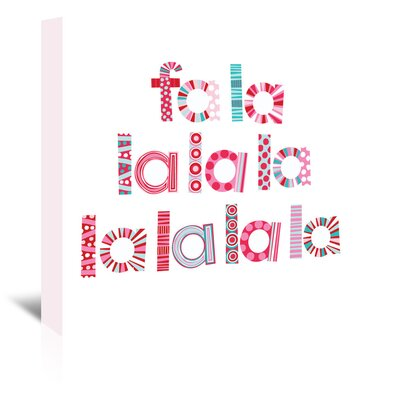 Americanflat 'Christmas Fa La La' by Jocelyn Proust Typography Wrapped on Canvas