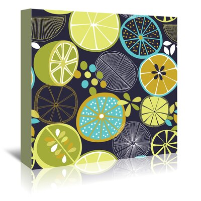 Americanflat 'Luscious Limes 1' by Jocelyn Proust Graphic Art Wrapped on Canvas