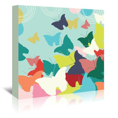 Americanflat 'Butterflies' by Emma McGowan Graphic Art Wrapped on Canvas