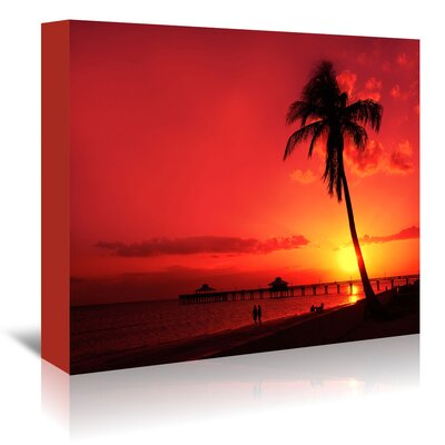Americanflat 'Romantic Sunset' by Melanie Viola Photographic Print Wrapped on Canvas
