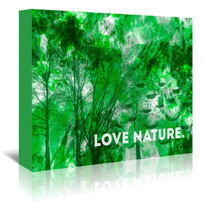 Americanflat 'Emotional Love Nature' by Melanie Viola Graphic Art Wrapped on Canvas