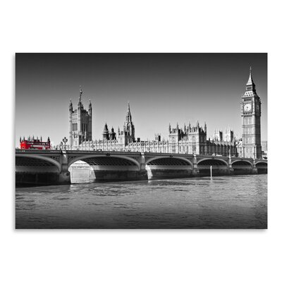 Americanflat 'London Red Bus on Westminster Bridge' by Melanie Viola Photographic Print