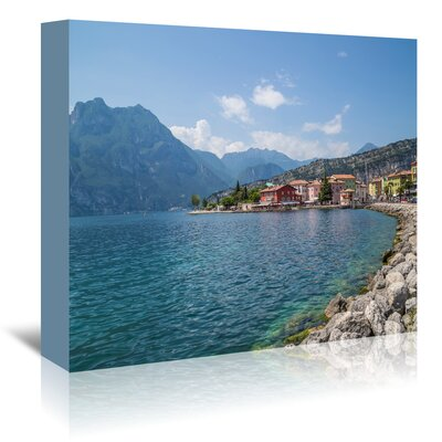 Americanflat 'Lake Garda Torbole Lakeside' by Melanie Viola Photographic Print Wrapped on Canvas