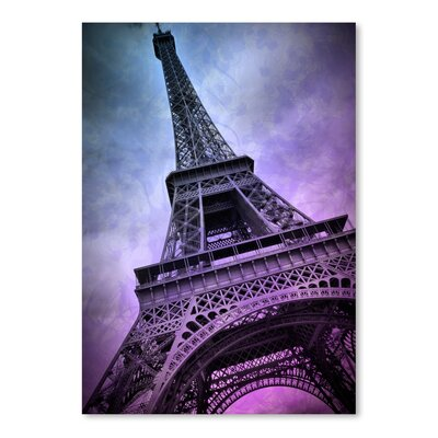 Americanflat 'Modern Paris Eiffel Tower Purple' by Melanie Viola Graphic Art
