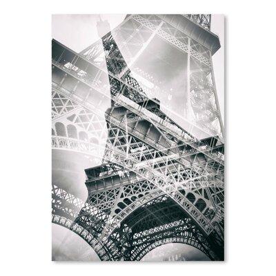 Americanflat 'Eiffel Tower Paris Double Exposure' by Melanie Viola Graphic Art