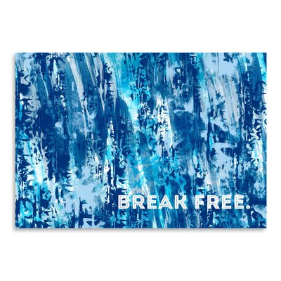 Americanflat Emotional 'Break Free' by Melanie Viola Graphic Art