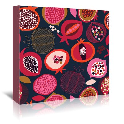 Americanflat 'Pomegranates 1' by Jocelyn Proust Graphic Art Wrapped on Canvas