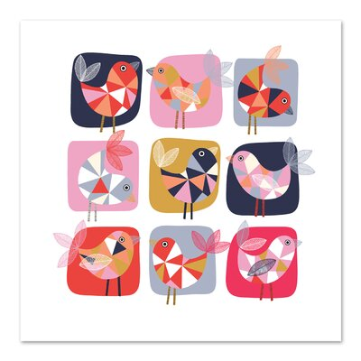 Americanflat 'Geo Bird Square' by Jocelyn Proust Graphic Art