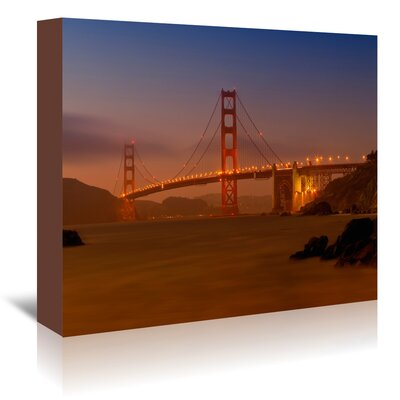 Americanflat 'Golden Gate Bridge at Sunset' by Melanie Viola Photographic Print Wrapped on Canvas