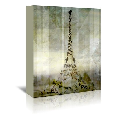 Americanflat 'Paris Eiffel Tower Geometric Mix No.1' by Melanie Viola Graphic Art Wrapped on Canvas