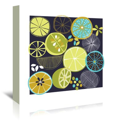 Americanflat 'Luscious Limes' by Jocelyn Proust Graphic Art Wrapped on Canvas