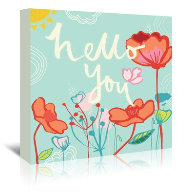 Americanflat 'Hello You' by Emma McGowan Graphic Art Wrapped on Canvas