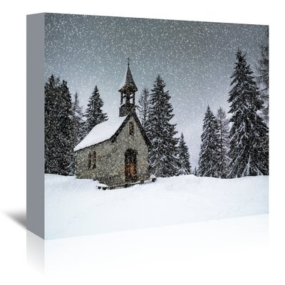 Americanflat 'Germany Bavarian Winter's Tale Anna Chapel' by Melanie Viola Photographic Print Wrapped on Canvas