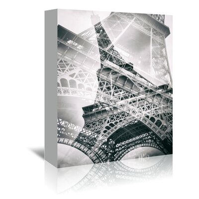 Americanflat 'Eiffel Tower Paris Double Exposure' by Melanie Viola Graphic Art Wrapped on Canvas