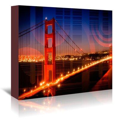 Americanflat 'Golden Gate Bridge Geometric Mix No.1' by Melanie Viola Graphic Art Wrapped on Canvas