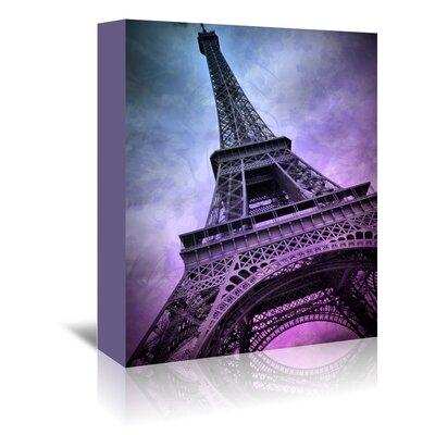 Americanflat 'Modern Paris Eiffel Tower Purple' by Melanie Viola Graphic Art Wrapped on Canvas